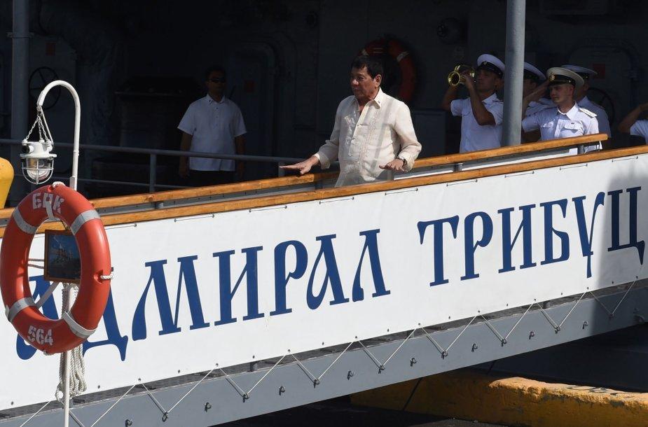 Rodrigo Duterte Rusijos karo laive