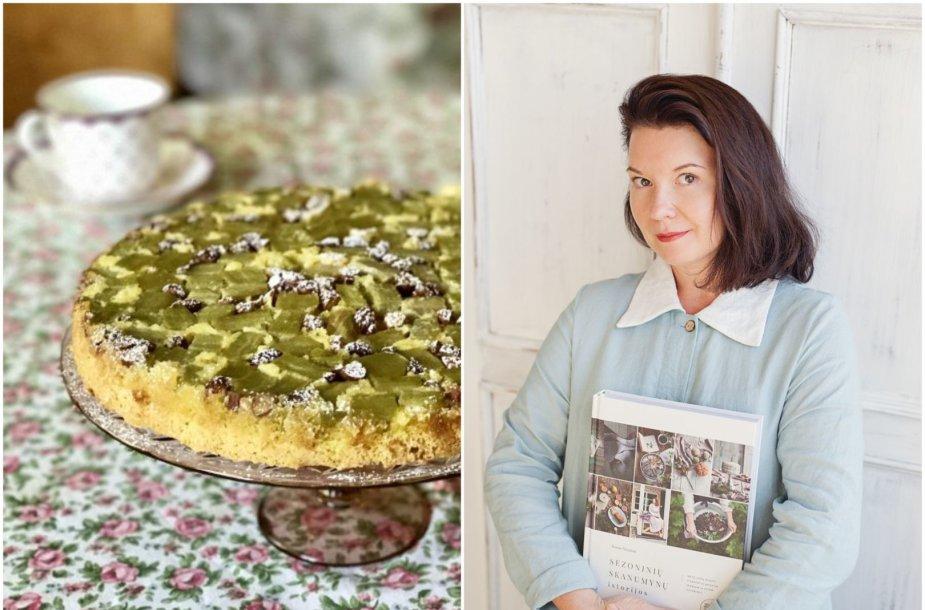 Renata Ničajienė ir jos keptas pyragas