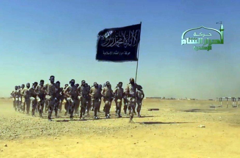 """Stop kadras iš """"IS"""" propagandinio vaizdo įrašo"""