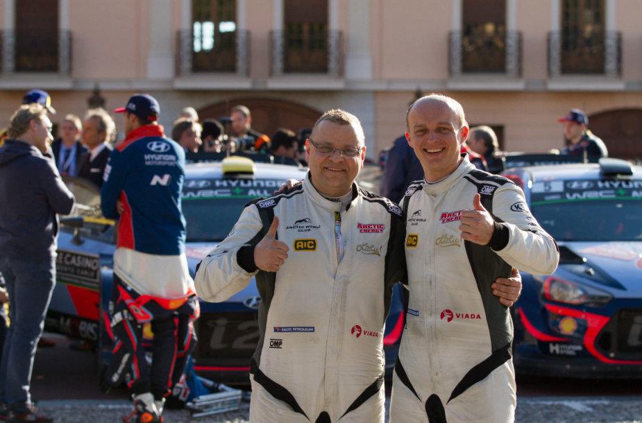 Deividas Jocius ir Donatas Zvicevičius Monte Karlo ralyje pasiekė finišą