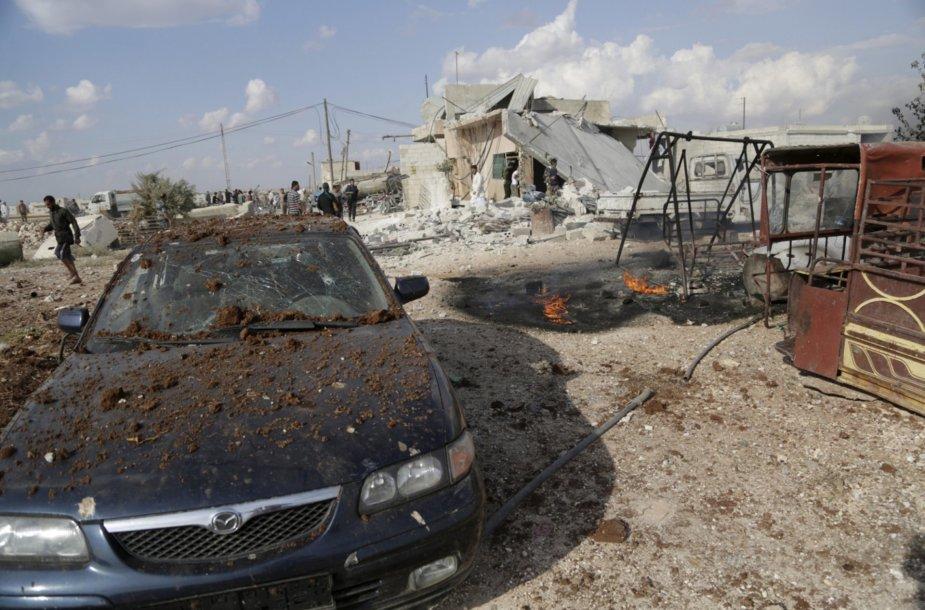 Rusijos oro ataka Sirijoje
