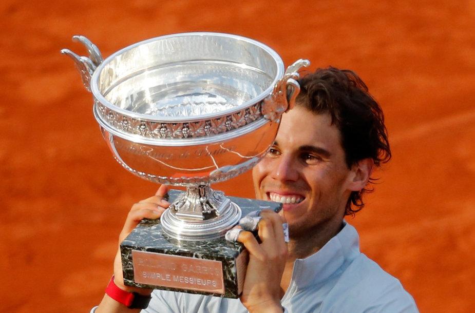 2014 metų turnyro nugalėtojas Rafaelis Nadalis