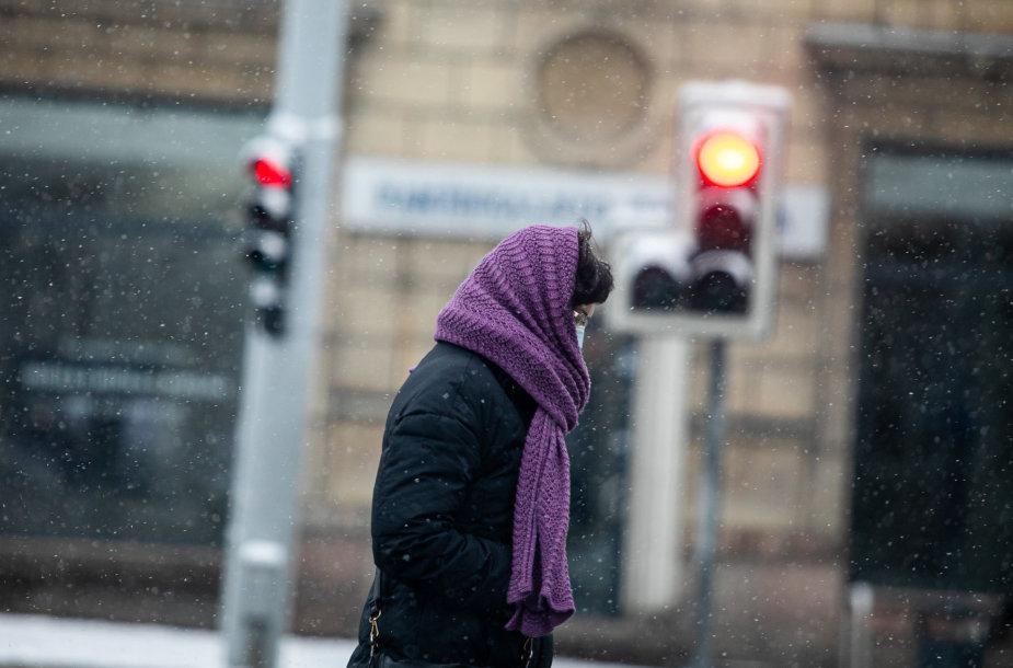 Snieguota žiema Vilniuje