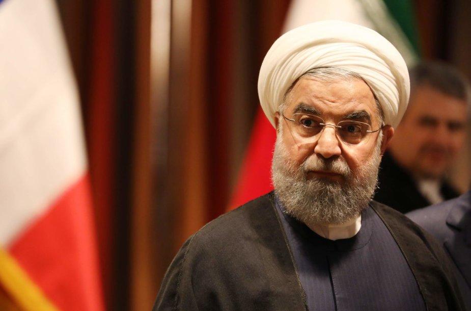 Irano prezidentas Hassanas Rouhani  JT Generalinėje Asamblėjoje