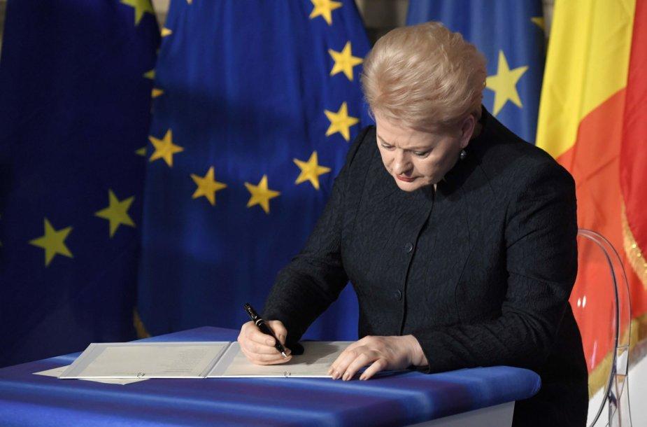 Dalia Grybauskaitė pasirašo naują Romos deklaraciją