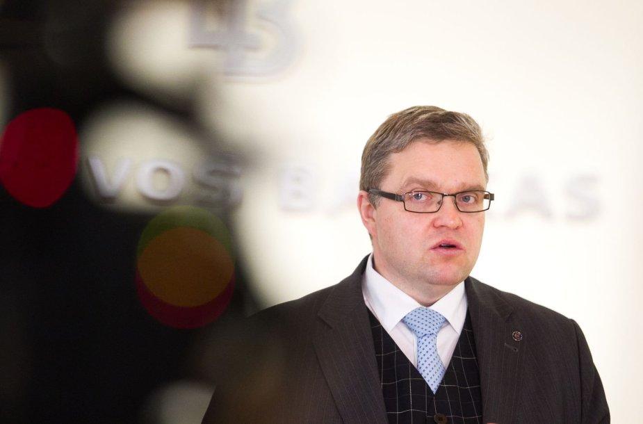 Lietuvos banko valdybos pirmininkas Vitas Vasiliauskas