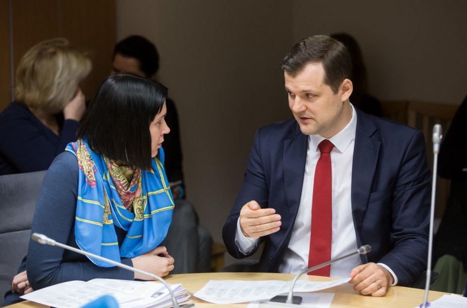 Dovilė Šakalienė ir Gintautas Paluckas