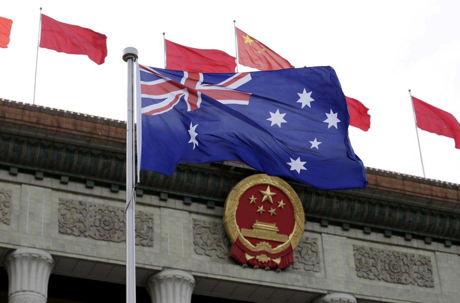 Australijos vėliava Pekine