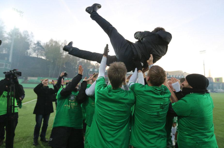"Vilniaus ""Žalgiris"" – vėl Lietuvos futbolo A lygos čempionas"