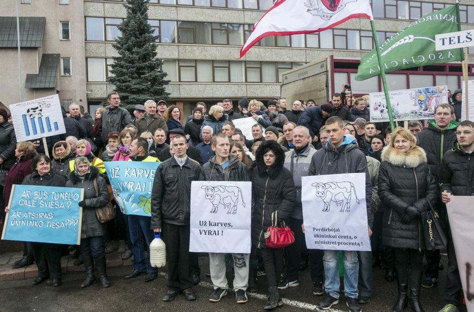 Pienininkų protesto akcija