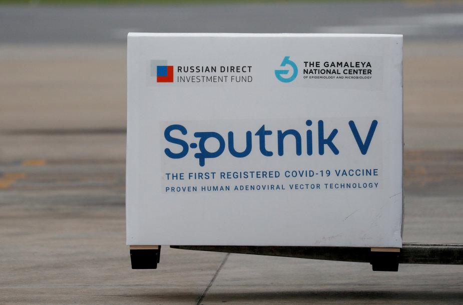 """Sputnik V"" vakcinos siunta"