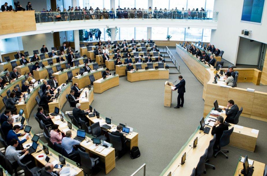 Premjeras Algirdas Butkevičius pristatė Vyriausybės metinę ataskaitą.