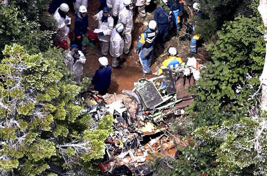 Japonijoje sudužusio sraigtasparnio paieškos