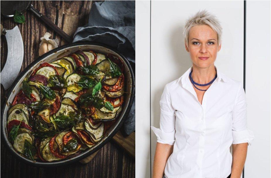 Nida Degutienė ir jos keptas daržovių apkepas