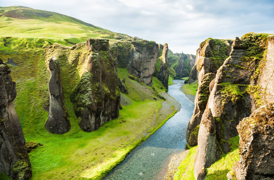Fjaðrárgljúfur kanjonas Islandijoje