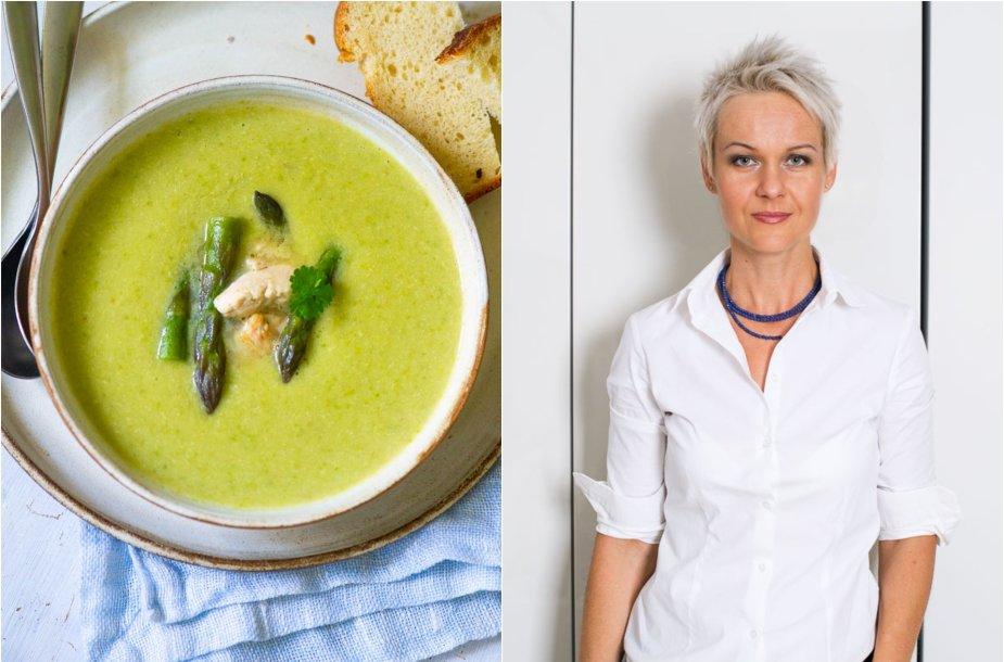 Nida Degutienė ir jos virta trinta vištienos ir smidrų sriuba