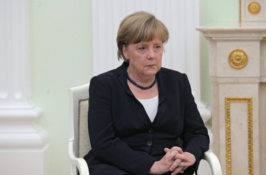 Angela Merkel vieši Maskvoje