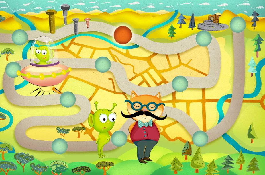 """I.Simonaitytės bibliotekoje sukurtas interaktyvus žaidimas """"Žaliapėdis"""""""