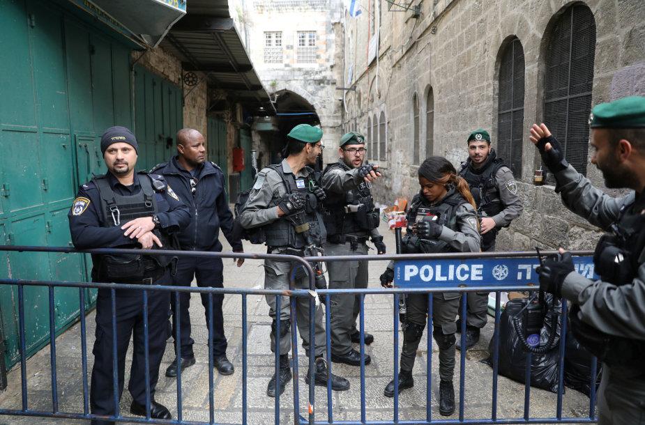 Izraelio sienos apsaugos pareigūnai