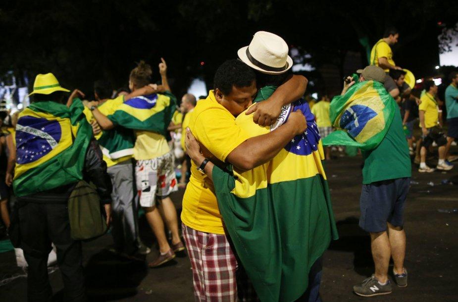 Protestuotojai Brazilijoje