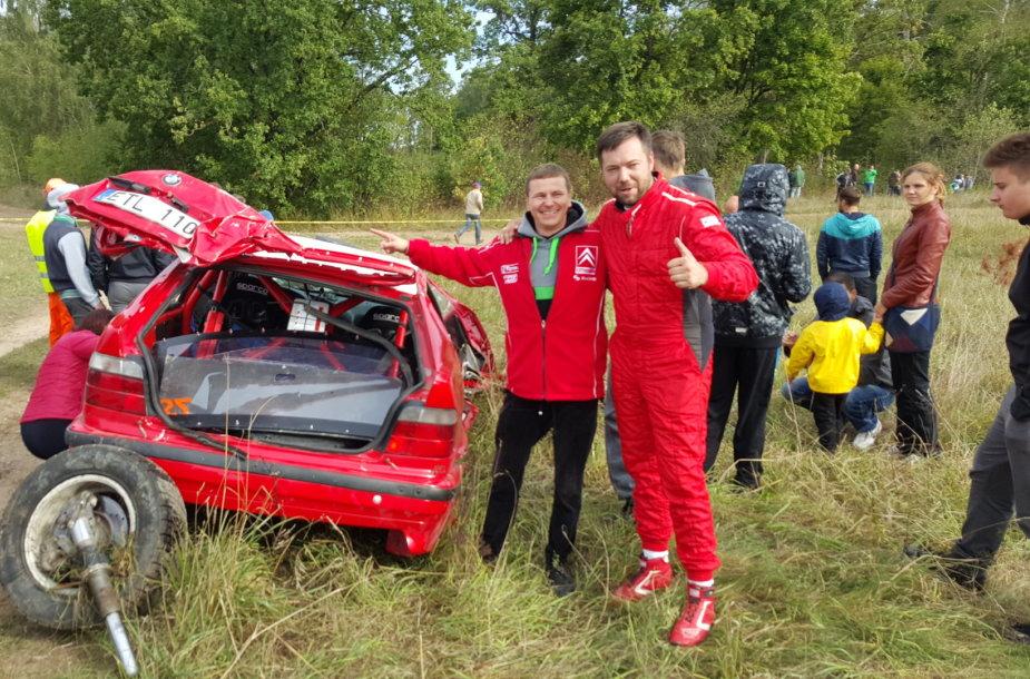 Mindaugo Varžos ir Martyno Drulios avarija GR2