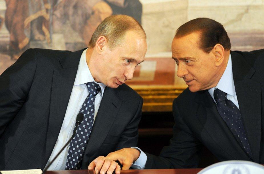 V. Putinas ir S. Berlusconi