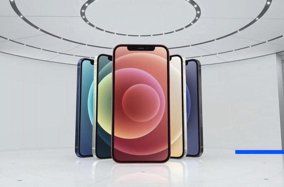 """""""iPhone 12"""" spalvų paletė"""