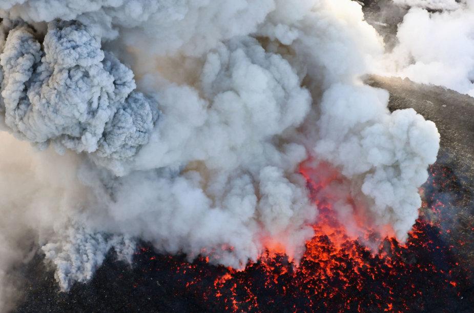Šinmoedakės ugnikalnis Japonijoje
