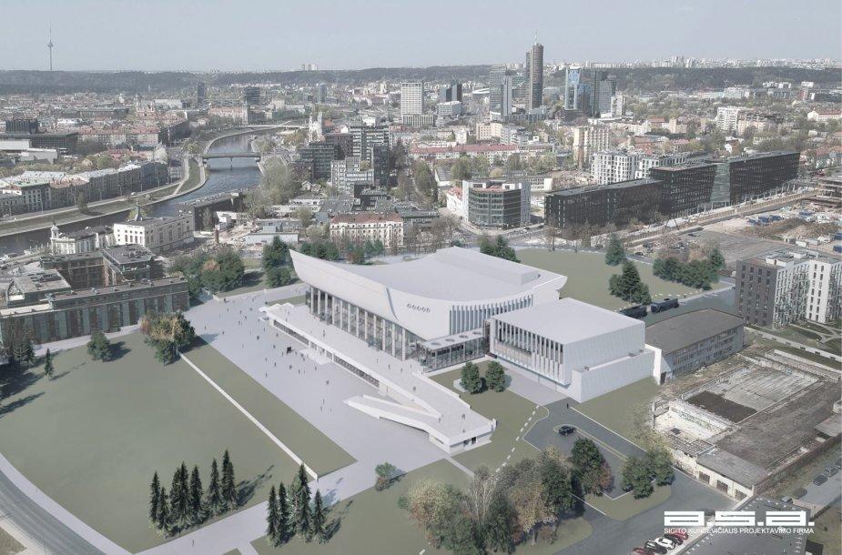 Vilniaus kongresų centro vizualizacija
