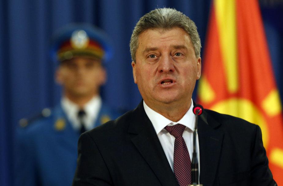 Makedonijos prezidentas Giorgė Ivanovas.