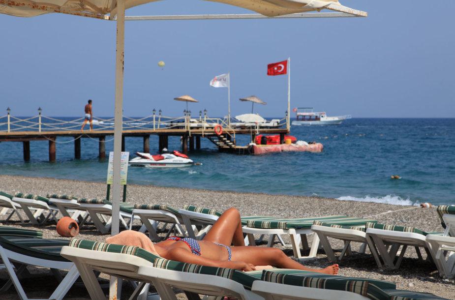 Paplūdimys Antalijoje, Kemere