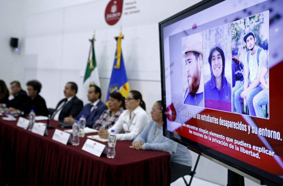 Patvirtinta trijų meksikiečių studentų žūtis