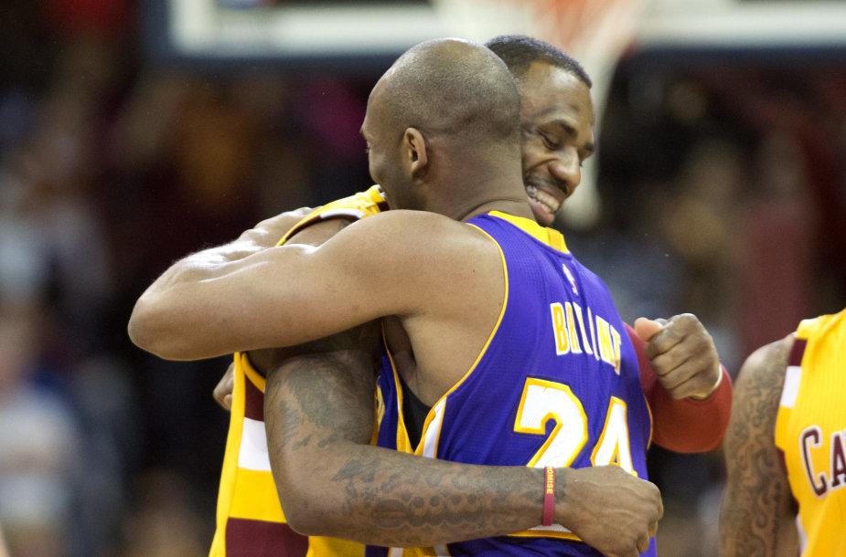 Kobe Bryantas ir LeBronas Jamesas