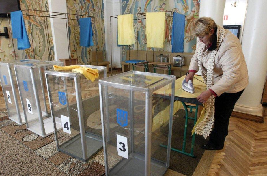 Ukrainoje rengiamasi parlamento rinkimams.