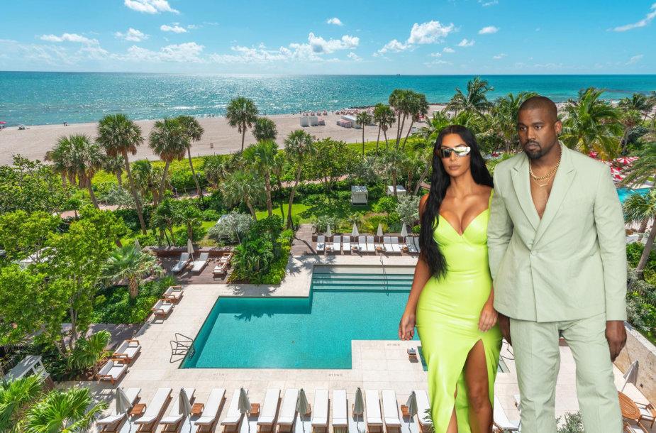 Kanye Westas per Kalėdas žmonai Kim Kardashian padovanojo butą Majamyje