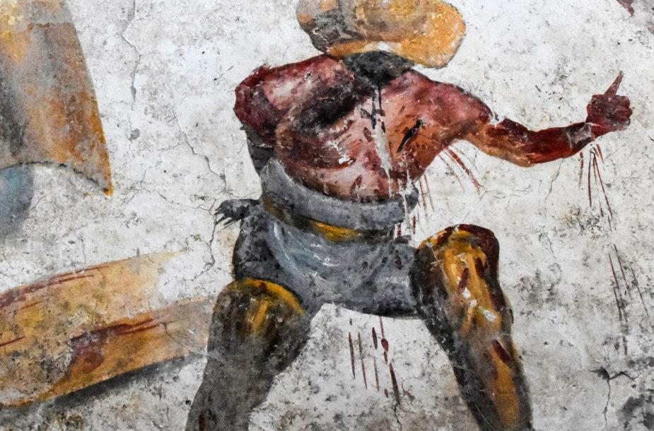 Pompėjoje rasta freska