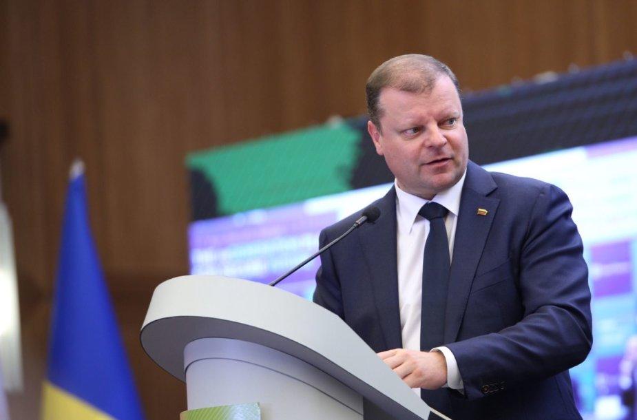 Ministro Pirmininko Sauliaus Skvernelio vizitas Ukrainoje