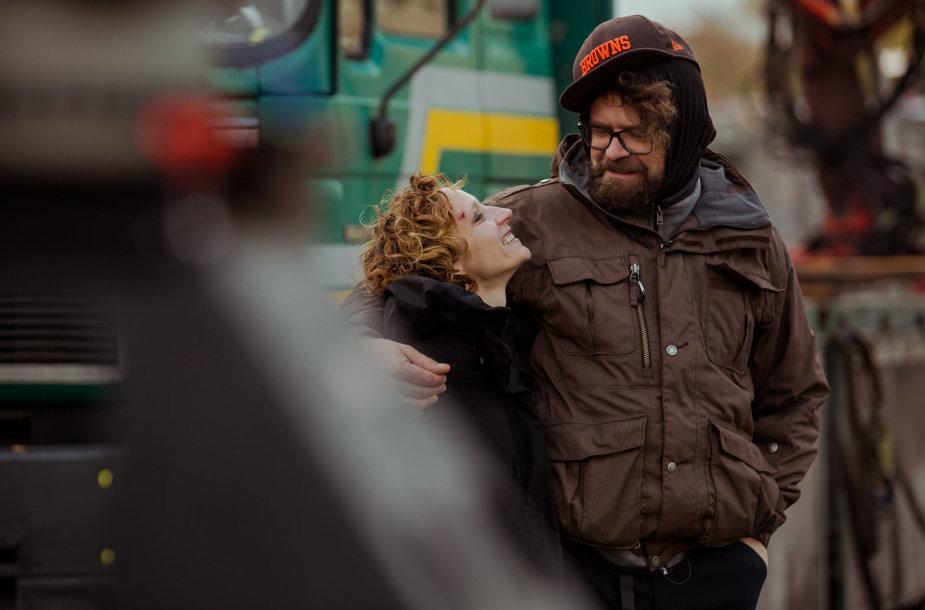Filmo prodiuserė ir pagrindinė aktorė Gabija Siurbytė ir režisierius Ernestas Jankauskas