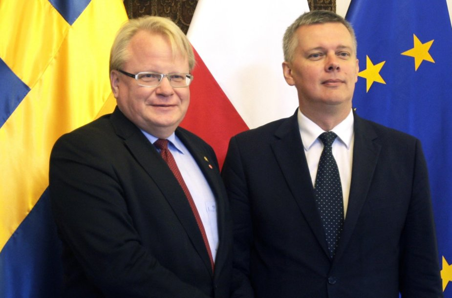 Peteris Hultqvistas ir Tomaszas Siemoniakas