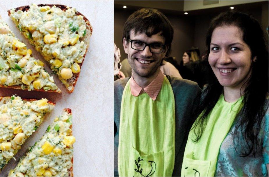 Tinklaraštininkai ir ruoštas veganiškas sumuštinis