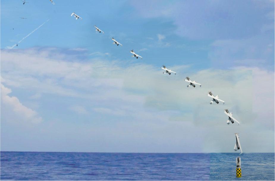 Bepiločio skraidančio aparato paleidimas iš povandeninio laivo
