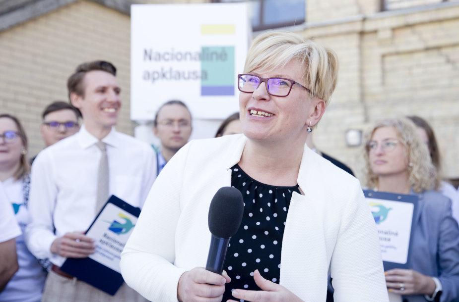 Konservatoriai savo rinkimų projektą piliečiams pristatė prie turgaus