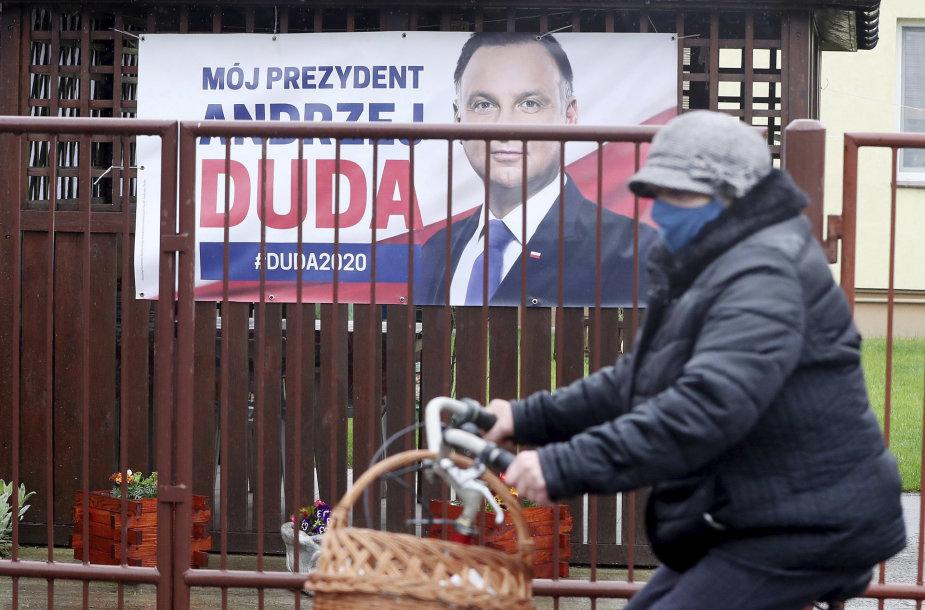 Andrzejaus Dudos rinkimų agitacijos plakatas