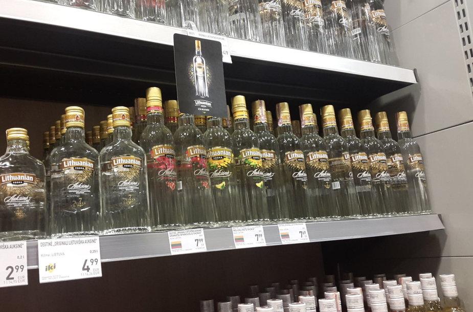 Alkoholio kainos kovo 9-ąją dieną prekybos centruose