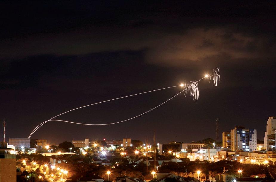 Iš Gazos ruožo į Izraelį skrieja raketos