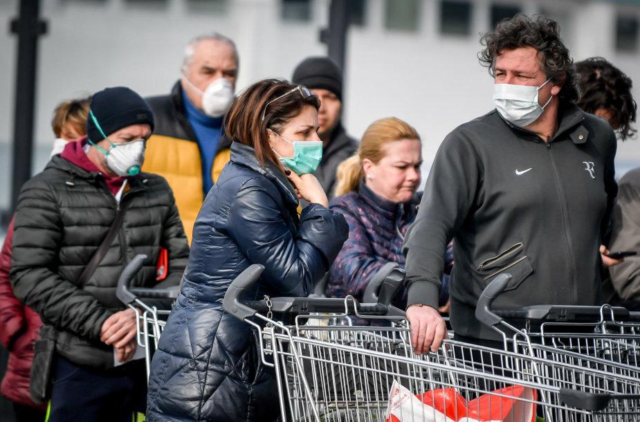 Koronavirusas siaučia ir Italijoje