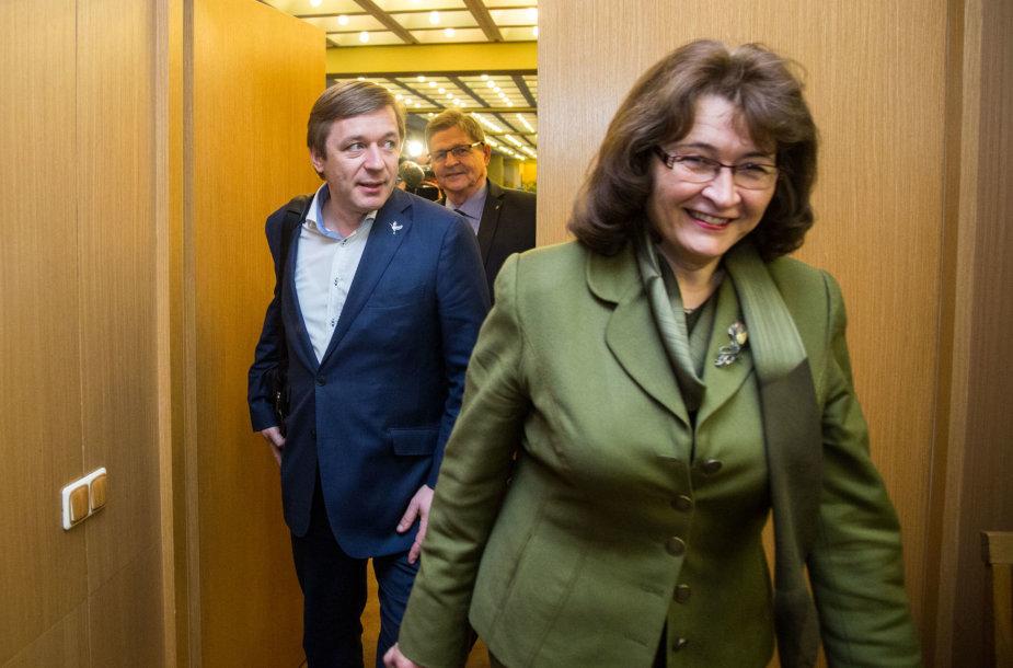 Rima Baškienė ir Ramūnas Karbauskis