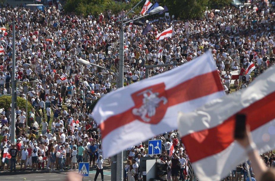 Baltarusija. Aštunta protestų diena