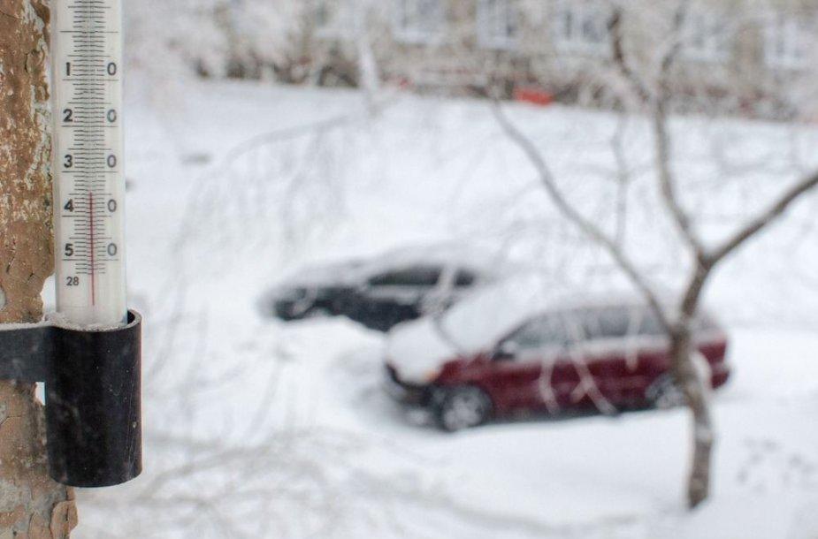 Šalta žiema Rusijoje