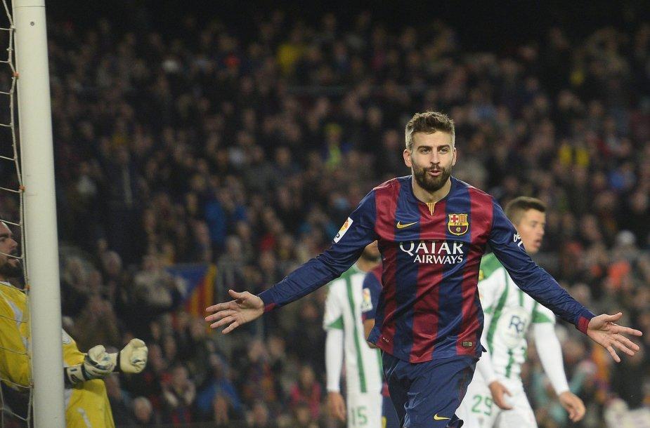 Gerradas Pique įmušė antrą savo įvartį čempionate